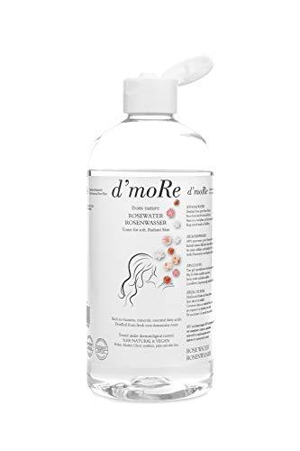Kennenlernangebot 500ml Bio Rosenwasser von d`moRe,100% Reines Naturprodukt ohne Alkohol und Konservierungsstoffe. Rose Water Organic Vegan
