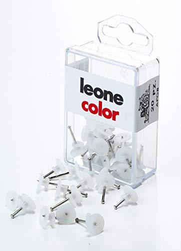 20 ganchos Leone Dell'Era para colgar cuadros con alfileres de acero templado - Caja para colgar - Fabricado en Italia