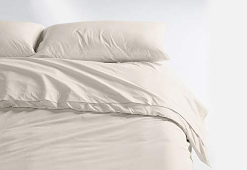 Casper Sleep Soft and Durable Supima Cotton Sheet Set, Twin, Cream