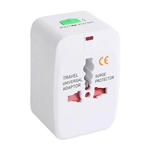 Adaptador de Enchufe de Enchufe eléctrico Adaptador de Viaje Internacional Enchufe de Viaje Universal Convertidor de Cargador de Corriente USB (Blanco) (Togames)