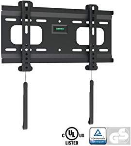 "Ultra-Slim Black Fixed/Flat Low-Profile Wall Mount Bracket for BenQ RL2455HM 24"" inch LED Monitor"