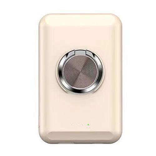 XIBEI Cargador portátil inalámbrico mag-Safe, 15W con Anillo de Soporte Magnético Power Bank PD Teléfono de células rápidas, 5000mAh, Compatible para iPhone 12/12 Mini/Pro/MAX (Color : Pink)