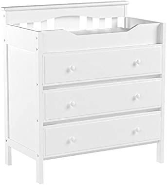 DaVinci Jayden 3-Drawer Changer Dresser in White, Greenguard Gold Certified