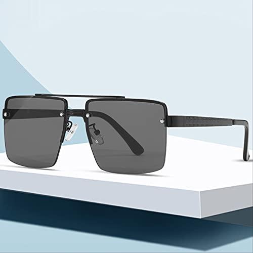 ODNJEMSD Nuevas Gafas De Sol Sin Montura Gafas De Sol Cuadradas con Montura Grande para Hombres