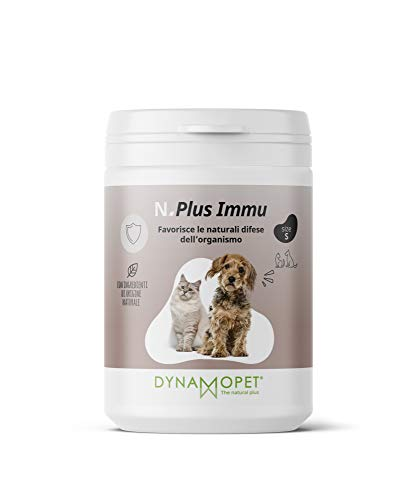 DYNAMOPET Natural Plus Immu Suplemento defensas para Perros y Gatos 100gr, promueve Las defensas Naturales del organismo, Suplemento para el Sistema inmunológico de los Animales