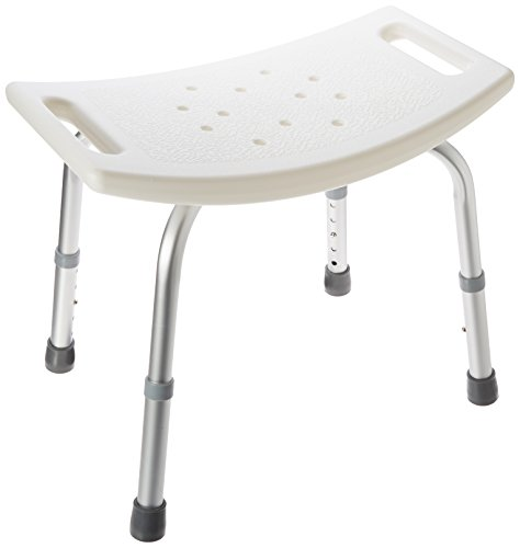 Best Buy! Aluminum Bath Bench - Shower Chair with Handle - Stool Safety Seat by BodyHealt (Without B...