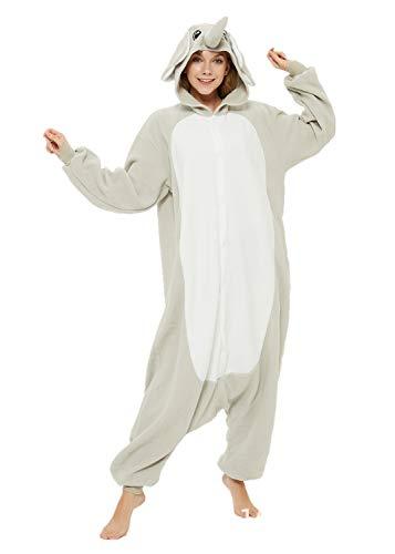 Animal Elephant Adult Onesie Unisex One-Piece Cosplay Costume Pajamas For Men Women