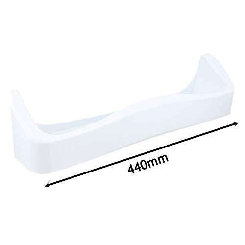 Spares2go - Bandeja para latas de puerta central para frigorífico Zanussi (440 mm), color blanco