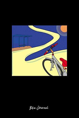 mountain bike galaxy Journal: Dot Grid Journal - Galaxy Biker Mountain Bike Planet Cute Christmas Gift - Black Dotted Diary