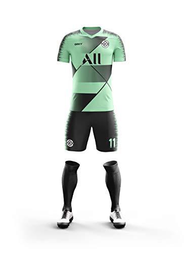 ORKY Custom Soccer Jersey Short Long Sleeve Shirt Men Kids Personalized Name Number Logo Football Team Uniform