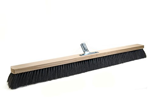 BawiTec Rosshaarbesen mit Metall-Stielhalter Kehrbesen weich 28cm 40cm 50cm 60cm 80cm 100cm Naturhaar Rosshaar Besen (60cm)