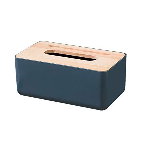 xiamenchangketongmaoyi Caja de pañuelos Caja para pañuelos de Papel Cajas de pañuelos Tejido Caja Caja de pañuelos Cubre rectángulo Blue