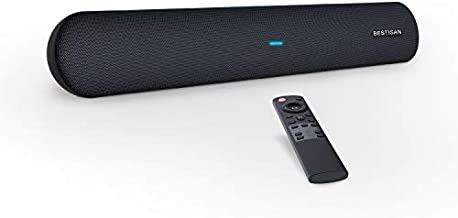 Sound bar, Bestisan Soundbar TV Sound bar Wired and Wireless Bluetooth Audio Speakers(28 Inches, 4 Drivers, Bluetooth 5.0 Version, Optical Cable Included, Bass Adjustable)
