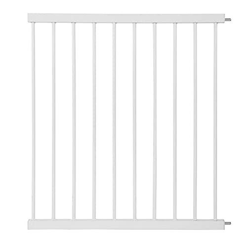 JHAISMAO Barrera de Seguridad de Niños para Puertas y Escaleras Open N Stop Safety Incl. Extension 70 cm, Sin Agujeros,75-82 cm, Metal(Size:Plus70cm,Color:Blanco)