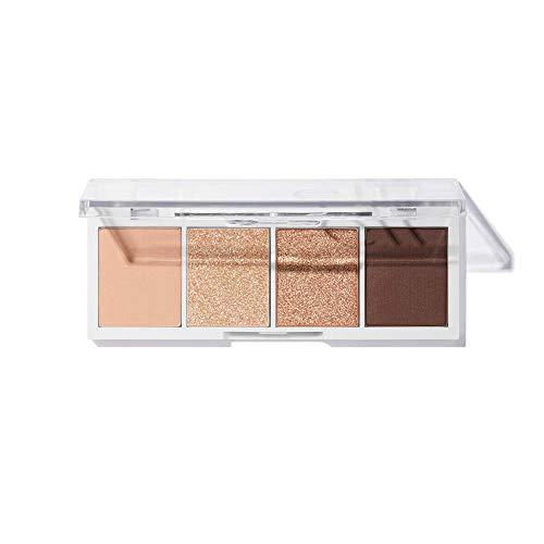 e.l.f. Bite-Size Eyeshadow | 4 ultra-pigmentierte matte & schimmernde Farbtöne | Cream & Sugar | 0.12 Oz (3.5g)
