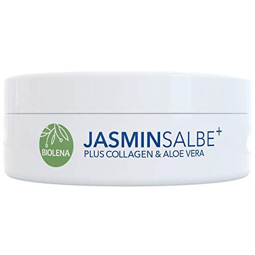 Biolena Jasminsalbe Plus – Augencreme mit Collagen und Aloe Vera (1 Tiegel je 100 ml) – Augenringe entfernen Augenpflege Eye Cream Jasmin Salbe Augenringe