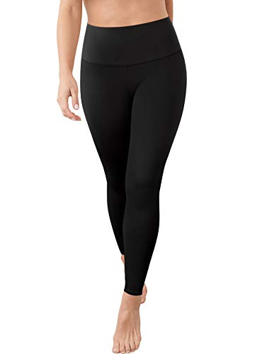 Maidenform Women's Firm Foundations Shapewear Leggings-Available DMS085, Black, X-Large Tall