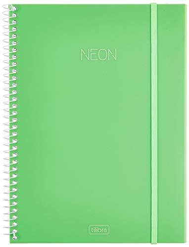 Caderno Universitário Capa Plástica, 80 Folhas, 1 Matéria, Tilibra, Multicor, Pacote de 1