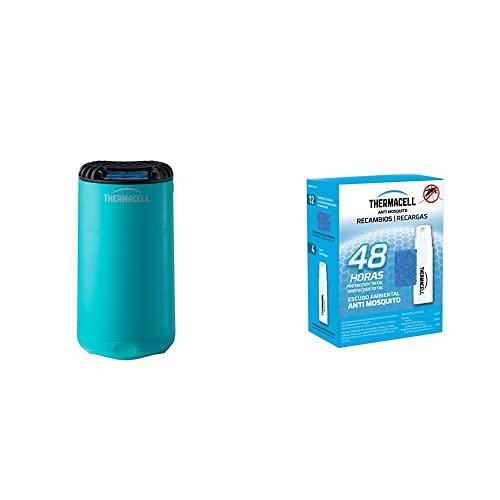 ThermaCELL - Anti Mosquito para Exterior. 20 m2 de protección sin DEET, Incluye difusor + Recarga + 3 recambios - azul