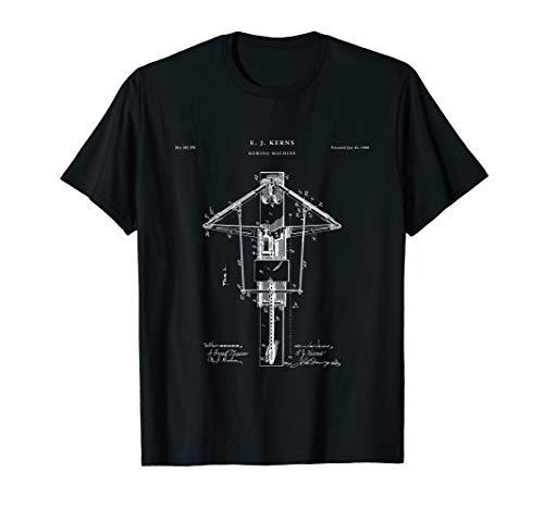 Rowing Machine Patent t-shirt - fitness T shirt