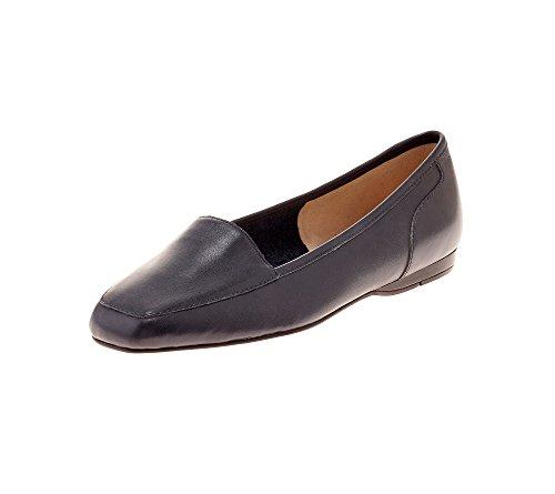 Bandolino Womens Liberty Flat,Navy Leather,US 10.5 M