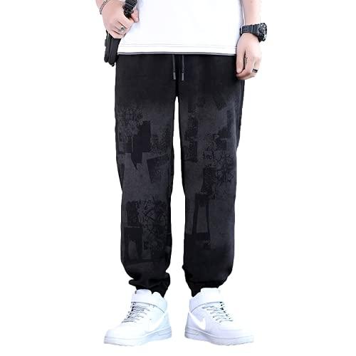 Pantalones Casuales para Hombre Pantalones de harén con Estampado de Letras Sueltas Ocasionales de Verano Pantalones Deportivos cómodos de Hip-Hop de Calle de Moda 3XL