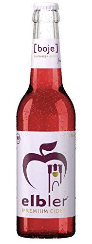 Elbler Cider Boje, Äpfel & Brombeeren, 4.0% Vol, 0,33 l, inkl. 0,08€ Pfand, Fruchtig-Frisch, 1 Stück, Organic, Glutenfrei & Vegan, Handgemachter Cider aus Bio-Obst, ohne Zusatzstoffe, Kalorienarm