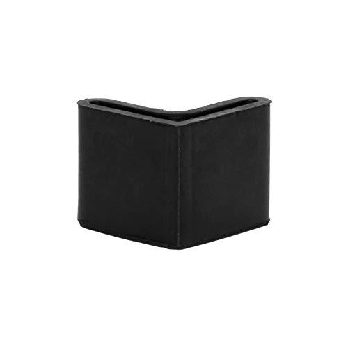 Flyshop Chair Leg Caps, Rubber Protective Caps, Durable, Non-scratch, Angle 25 * 25mm, 8pcs, Black
