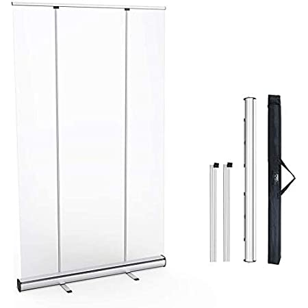 Lounge Reception of Count Social Distance Shield Office Screenings Partss □ Using in Business □ Transparent Roll Up Banner Screen Transparent Screen of Rollable Banner Germs