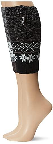 Muk Luks Women's 2 Pair Pack Reversible Snowflake Boot Toppers, Multi, OSFM