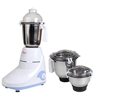 Quba 750 Watt 3 Jar Mixer Grinder (White and Blue)