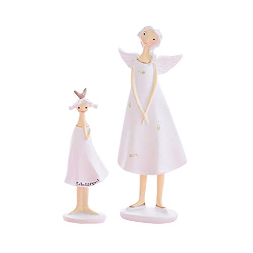 IMIKEYA Resin Angel Figurine Mother and Daughter Sculpted Figurine for Home Office Room Decoration