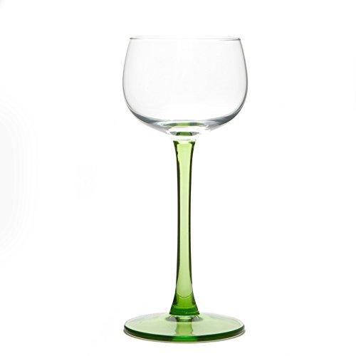 6 Copas de vino de Alsacia sin decoración
