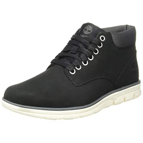 Timberland Bradstreet Chukka Leather, Stivali Uomo, Pelle, Materiale suola: Gomma, Larghezza scarpa: medium, Nero (Black Nubuck), 42 EU