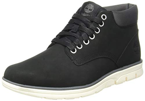 Timberland Bradstreet Chukka Leather, Stivali Uomo, Pelle, Materiale suola: Gomma, Larghezza scarpa: medium, Nero (Black Nubuck), 43 EU
