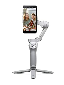 DJI OM 4 - Handheld 3-Axis Smartphone Gimbal Stabilizer with Grip Tripod Gimbal Stabilizer Ideal for Vlogging YouTube Live Video Phone Stabilizer Compatible with iPhone and Android