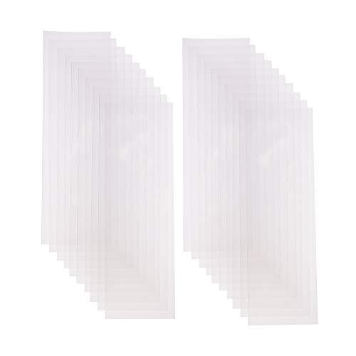 PandaHall 200pcs Trasparente OPP Cellophane bustine Sacchetti Confetti Trasparenti per Battesimo Bomboniere Biscotti Regalo Confezioni, Caramelle e Piccoli Oggetti di stoccaggio, 25x8cm