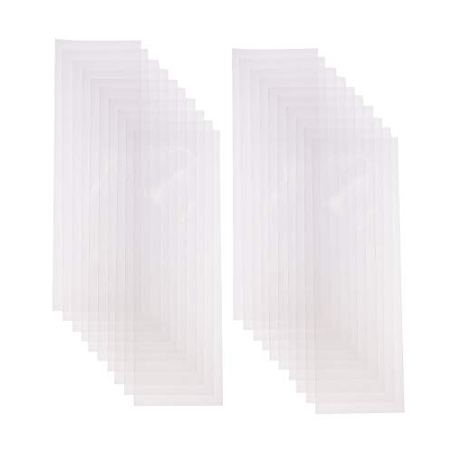 PandaHall Elite 200 bolsas rectangulares transparentes de celofán OPP para almacenamiento de galletas, dulces y objetos pequeños, 25 x 8 cm