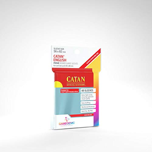 GAMEGEN!C- Prime Catan-Sized Sleeves 56x82mm (50), Color Clear (GGS10072ML): Amazon.es: Juguetes y juegos