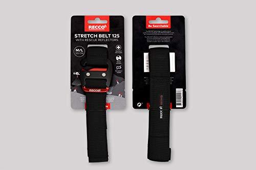 RECCO Rettungs Reflektor Gürtel Stretch: L-XL (74 - 125 cm) mit 2 Reflektoren