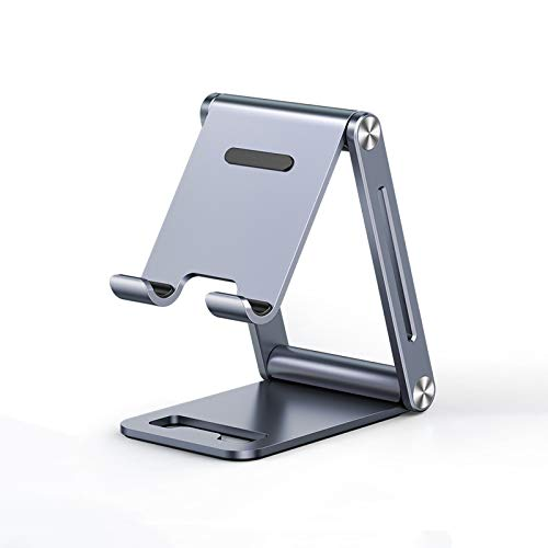 ZHONGPIN Soporte para teléfono móvil Plegable, Soporte para teléfono de Escritorio Ajustable con ángulo y Altura Ajustables,Compatible con teléfonos móviles y tabletas de 7.2 Pulgadas