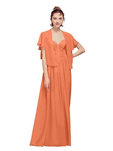 AW Bridal - Chales de gasa para mujer, para vestidos de noche, gasa, capas de boda, suaves Naranja Cantaloupe 90