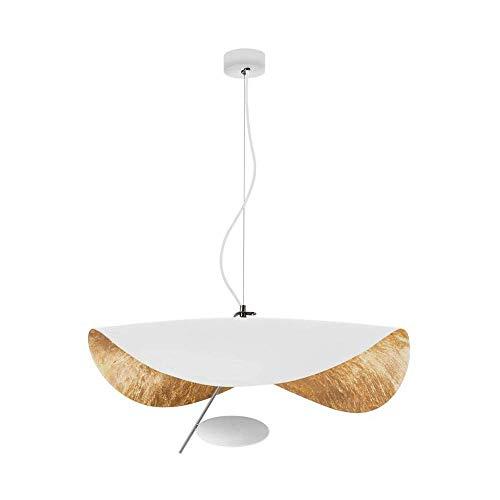 YANQING duurzame hanglamp woonkamer eetkamer kroonluchter, hoed kunst verlichting, gouden kroonluchter, witte LED kroonluchter hanglamp