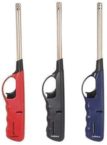 DRULINE 3 x 27 cm lang Feuerzeug Gas XXL Stabfeuerzeug nachfüllbar 3 Farben NEU & OVP