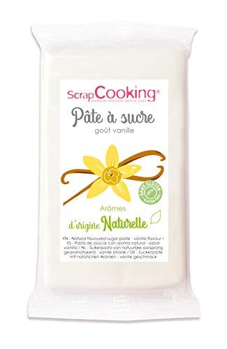 Pâte à Sucre Blanche Goût Vanille d'Origine Naturelle 250 g