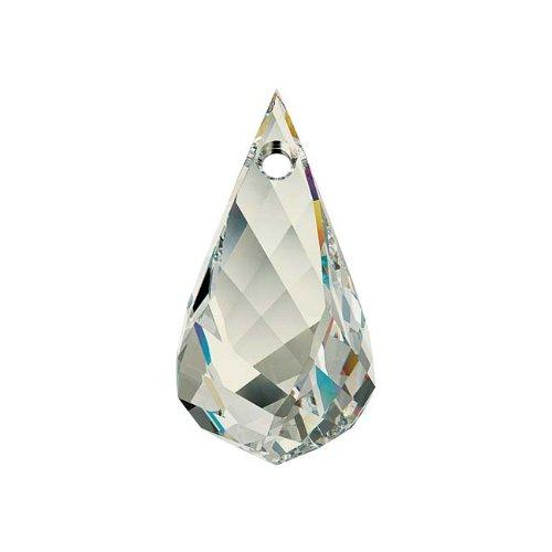 Swarovski Cristales cristal # 6020Helix colgante 18mm plata tono 'de cristal' (1)