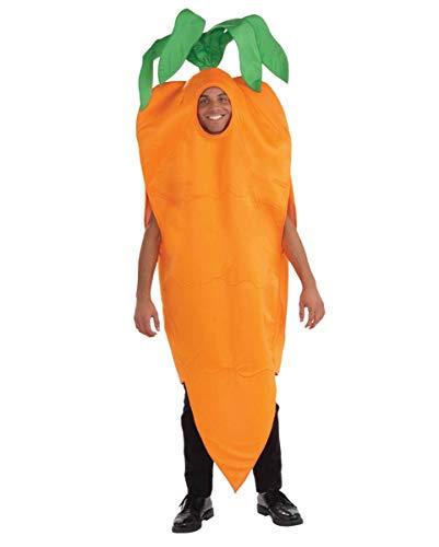 Horror-Shop Knackiges Oranges Karotten Unisex Kostüm für Gruppen am Straßenkarneval