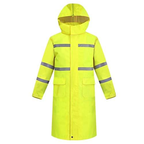 Home-life Pluie Imperméable Poncho, Pluie Haute Visibilité Veste Léger Durable Raincoat Vêtements De Travail Étanches (Size : XL)