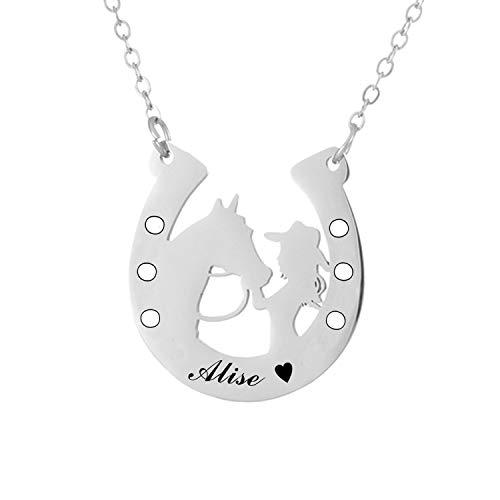 Personalized Horseshoe Necklace