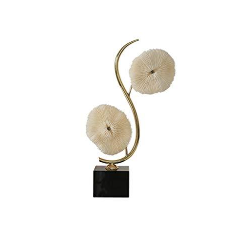 Crafts Escultura Coral Escultura Decoración Nórdica Sala de estar Decoración del Hogar Moderna Luz Minimalista Lujo Mueble de TV Arte Decoración Suave Decoración (Tamaño: Pequeño)
